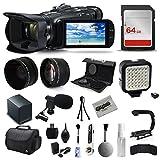 Canon VIXIA HF G40 Full HD Camcorder + Mic + Battery + 64GB Starter Kit + Case + Telephoto Lens + Filter Kit + XGrip + SD Reader + Professional Accessory Bundle Kit