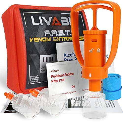 Amazon.com: LIVABIT 4 x Venom Bite Poison Extractor bomba de ...
