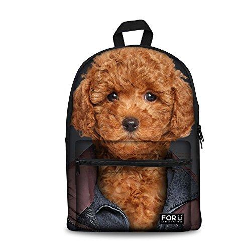 [Bigcardesigns Poodle Dog Design Bookbag Backpack Schoolbag for Girls] (Poodle Cooler)