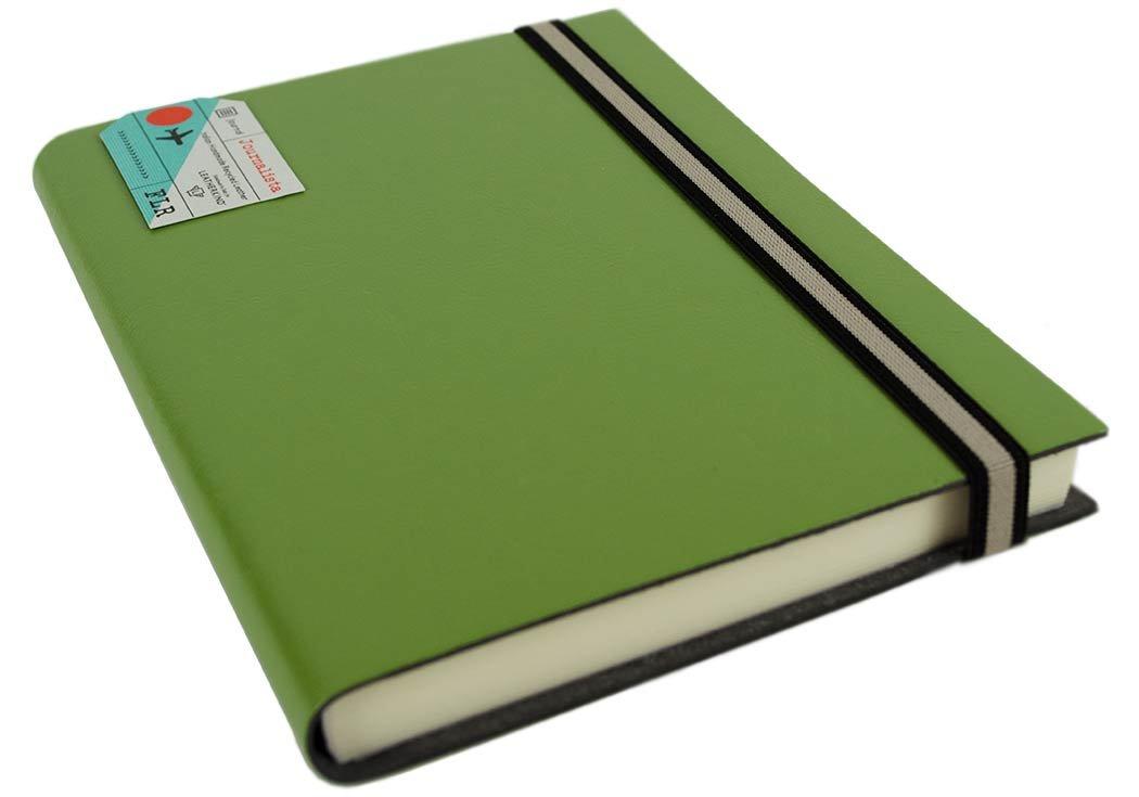 LEATHERKIND Journalista Recyceltes Leder Notizbuch Moosgrün, A5 Liniert Seiten - Handgefertigt in Italien B01HVAIK2Q    | Heißer Verkauf
