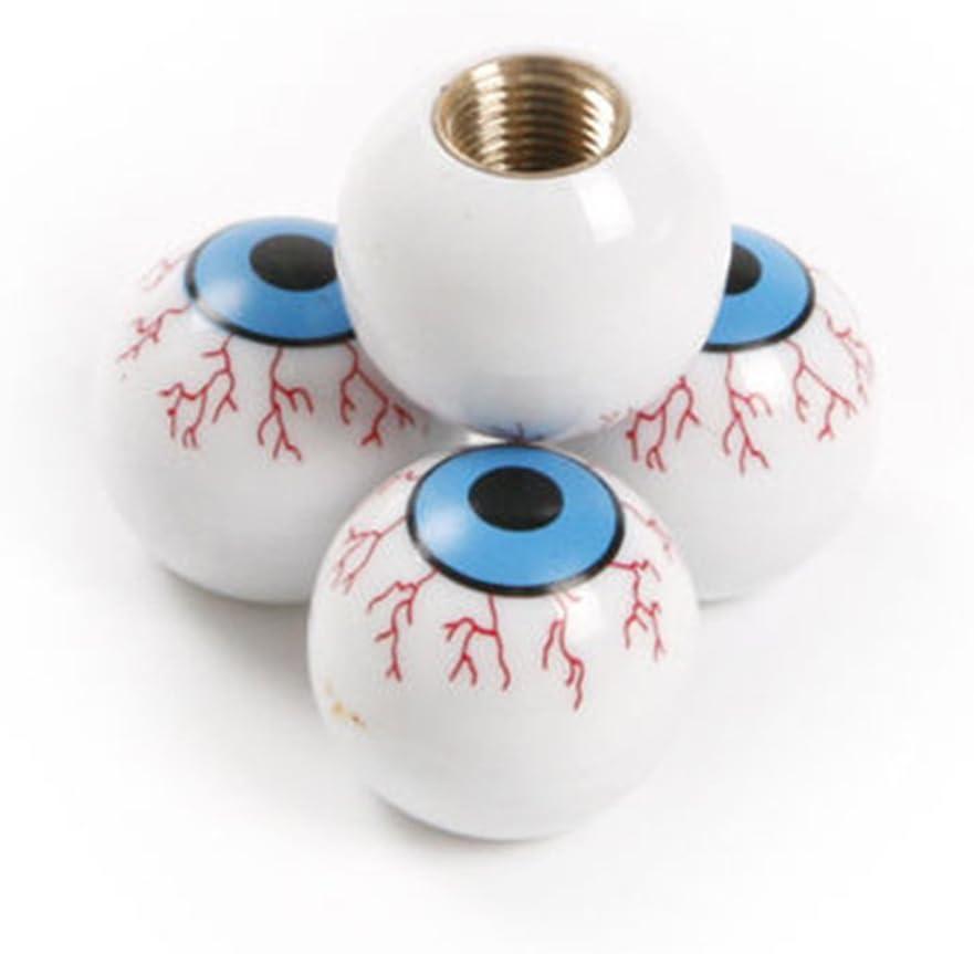 Lergo 4/Pcs//Lot de Globe oculaire de Roue Pneu Capuchons Valve Air Coque Potence pour V/élo de Moto de Voiture