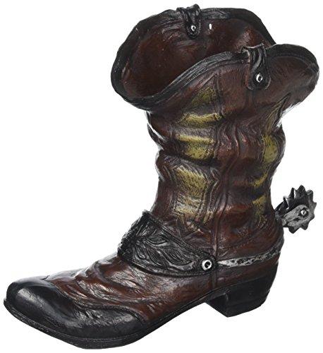 (Koehler Home Outdoor Garden Holiday Seasonal Decor Spurred Cowboy Boot Flower Planter)