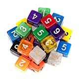 25 Pack of Random D6 Polyhedral Dice in Multiple Colors By Wiz Dice