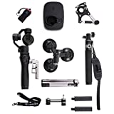 Osmo with Sport Accessory Kit, Includes 2 Batteries, FlexMic, Extension Rod,Bike Mount,Tripod,Vehicle Mount, Straight Extension Arm, Osmo Base, Camrise Lanyard and Camrise USB Reader
