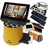 Wolverine Titan 8-in-1 20MP High Resolution Film to Digital Converter with 4.3 Screen and HDMI output, Worldwide Voltage 110V/240V AC Adapter Plus (3) Wolverine Slide Trays (Bundle)