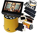 Wolverine Titan 8-in-1 20MP High Resolution Film to Digital Converter with 4.3'' Screen and HDMI output, Worldwide Voltage 110V/240V AC Adapter Plus (3) Wolverine Slide Trays (Bundle)