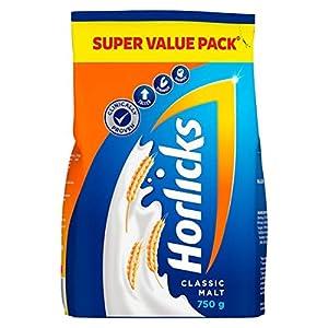 Horlicks Classic Malt Health & Nutrition drink 750g Refill Pack India 2021