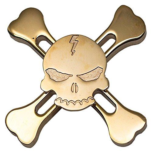 Nuofeng Fidget Spinner Toys Hand Spinners Stress Reducer Ceramic Bearing Golden Skull 11