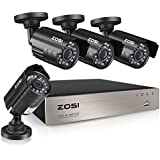 ZOSI 8-Channel HD-TVI 1080N/720P Video Security System DVR recorder with 4x HD 1280TVL Indoor/Outdoor Weatherproof CCTV Cameras NO Hard Drive Smartphone& PC Easy Remote Access (Certified Refurbished)