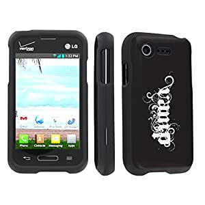 SkinGuardz LG L34C Optimus Fuel / Zone 2 VS415 Full Protection Hard Case - (Vamp Black Black)