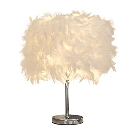 Oeil Chambre Xzdxr Table Lampe Chevet De Plume I2EYWDH9
