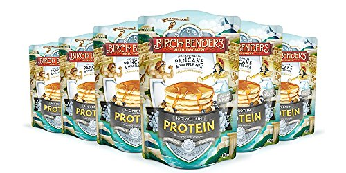 Pancake and Waffle Mix with Whey Protein by Birch Benders, 16 Ounce, Pack of 6 ()
