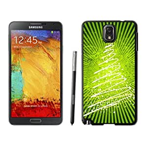 Note 3 Case,Christmas Bright Green Stars Christmas Tree TPU Black Samsung Galaxy Note 3 Cover Case,Note 3 Cover Case