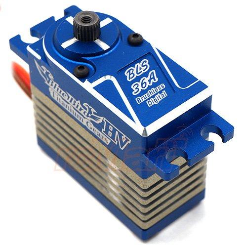 Blue Aluminum Gear - Blue Bird Full Aluminum Titanium Gears High Voltage Digital Brushless Servo For 1/10 Offroad RC #BLS-36A