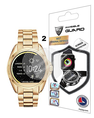 For Michael Kors Bradshaw SmartWatch Screen Protector (2 Units) Invisible Ultra HD Clear Film Anti Scratch Skin Guard - Smooth / Self-Healing / Bubble -Free By IPG
