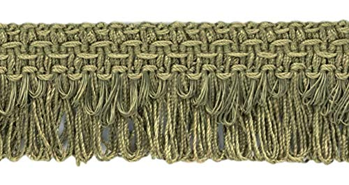 Decorative Moss Green Scalloped Loop Fringe/Braid, 1 3/8 Inch, 12 Yard Value Pack, Style# 9115 Color: L80 (I3) (36 Ft / 11M)