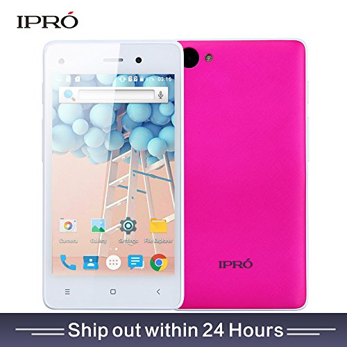 IPRO I9408 4inch 3G GSM Unlocked Smartphone -International Version with Warranty (Rose)