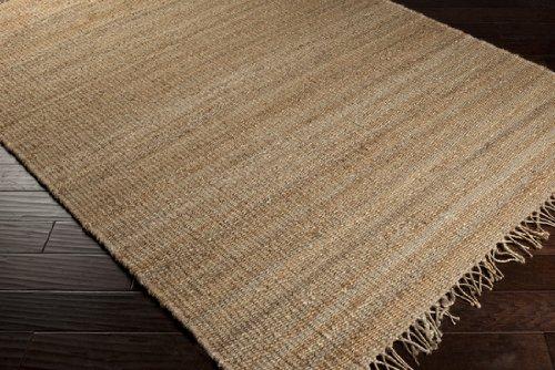 Surya Jute Natural Fibers Hand Woven 100% Jute Beige Rug (6-Feet Round) - Hand Woven 100% Jute