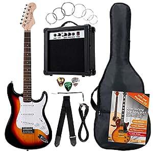 Rocktile Banger's Power Pack  guitarra eléctrica Set, 7-piezas sunburst