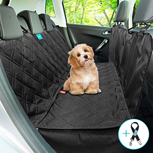Duke&Dixie Dog Seat Cover for Back Seat 100% Waterproof Dog Car Seat Covers Dog Hammock for Cars Trucks Suvs Washable Luxury Heavy Duty Durable Side Flaps Universal Size Pet Seat Belt Leash Included