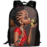 Casual Girls Daypack Backpacks For High School African American Black Girl
