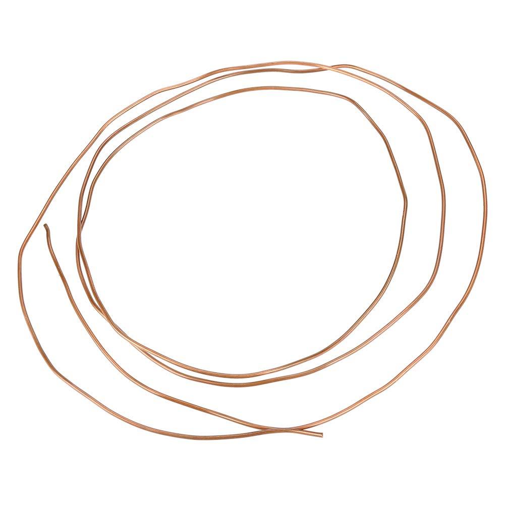 Akozon Tubes Ronds en Cuivre tuyau de 2M en cuivre souple diam/ètre ext/érieur 2mm x 1mm pour la plomberie frigorifique
