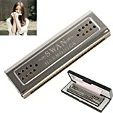【Best Deals for Christmas】OriGlam Professional Swan 24 Holes Key Of C&G Double-side Tremolo Harmonica