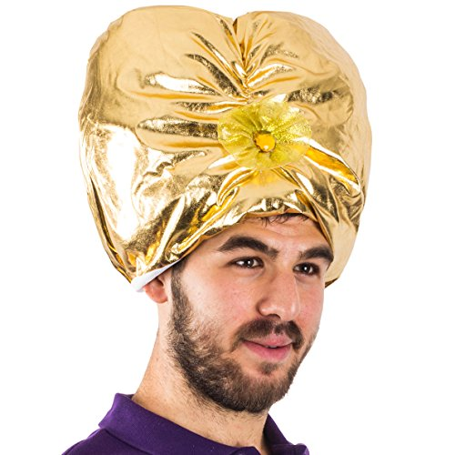 Sultan Turban - Genie Hat Costume - Swami Costume - Arabian Hat - Turban for Men - Sultan Costume by Funny Party Hats for $<!--$10.99-->