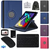 EEEKit 4 in 1 Office Solution Kit for Lenovo Tab 2 A10 10 Inch,Rotating Flip Stand Case Cover,Wireless Bluetooth Keyboard/Mouse and OTG Card Reader