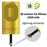 QI Receiver for IPhone 5-5c- SE- 6-6 Plus- 7-7 Plus- YTech IPhone Wireless Receiver- QI Receiver- Charging Receiver - Lightning QI Wireless Receiver IPhone- QI Receiver Lightning