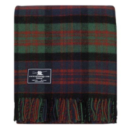 Tweedmill Textiles Macdonald (Old Colours) Tartan Premium Wool Throw ()