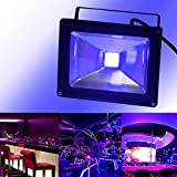UV Black Light, CHINLY Outdoor High Power 20W Ultra Violet LED Flood Light, IP65-Waterproof for DJ Disco Night Clubs, Blacklight Party, Fluorescent Effect, Neon Glow, Glow in The Dark