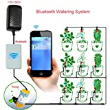 Smart Automatic Watering System Bluetooth Wireless Timer Switch by Smartphone App for Home Indoor Garden Flower Plant Irrigation