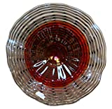 17'' Hand Blown Art Glass Table Platter Plate Red Grey Lavender w/ Wall Hanging Mount