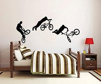 Etiquetas de la pared salto de bicicleta BMX Freestyle ciclista ...