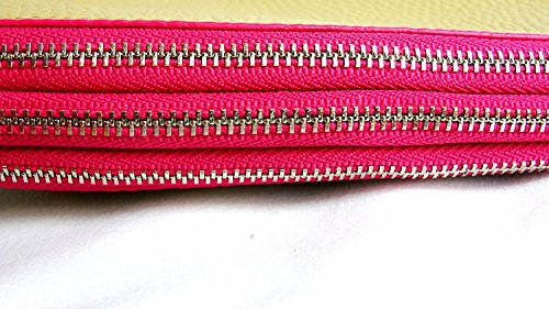 Crossbody NWT Pink Ruby Edgepaint Zip Coach Bleecker F51636 Leather Tri Camel PqwaRpO