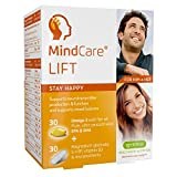 MindCare LIFT, stay happy – omega-3 wild fish oil, magnesium glycinate, 5-HTP & multivitamins for mood support, brain function and neurotransmitter production, 30 omega-3 + 30 micronutrient capsules