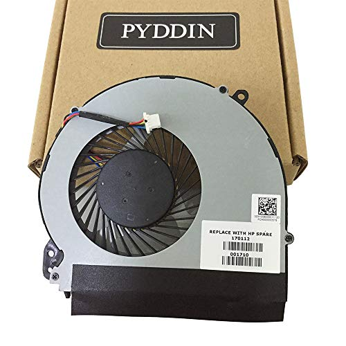 PYDDIN New Laptop CPU Cooling Fan Cooler Replacement Fan for HP Notebook 17-BS 17-AK 17-X 17-Y 17-BS061st 17-AK061NR 17-X051NR TPN-M121 Series P/N: 926724-001 856681-001 856682-001 ()