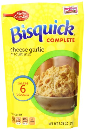Betty Crocker Bisquick Complete Biscuit Mix, Cheese Garlic, 7.75 Oz Bag (Pack of 9)