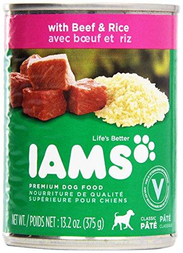Iams, Premium Dog Food, Beef & Rice Entree, 13.2 oz