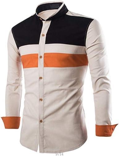 DuangDuang - Camisa de manga larga para hombre, corte ...