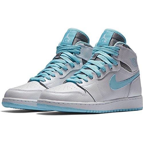 save off 921ec 48681 Nike Air Jordan 1 Retro High GG Basketballschuh Weiß   Weiß, noch Blau