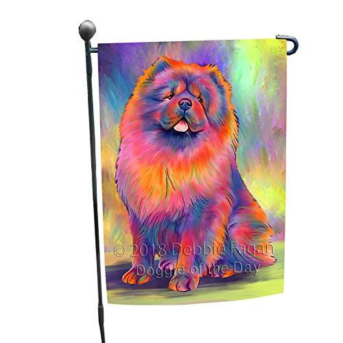 Doggie of the Day Paradise Wave Chow Chow Dog Garden Flag GFLG57331 ()
