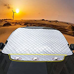 Car Windscreen Snow Cover, FREESOO Windshield Frost Covers Anti Foil Ice Dust Sun Aluminum Shield Screen Protector in all Weather Big 190cm123cm