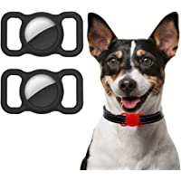 Ztowoto Siliconen hoes compatibel met Airtag hondenhalsband, Airtag beschermhoes voor honden kattenhalsband 2 stuks (2…