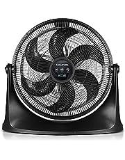 TAURUS RUSH Ventilador de Piso, Circulador de Aire, 20 Pulgadas, Reja Plástica Aerodinámica ECOJET, Silencioso (Menos de 70 dB), Potencia Única