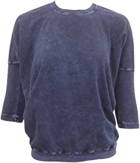 product image for Hard Tail Forever Three-Quarter Sleeve Drape Back Crew Top Style T-207
