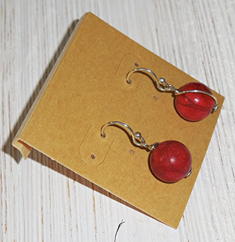 Rust Red Orange Earrings, Sterling Silver Earrings, Sponge Coral Earrings, Natural Organic Look Earirngs, A Little Rusty (Sterling Silver Sponge Coral)