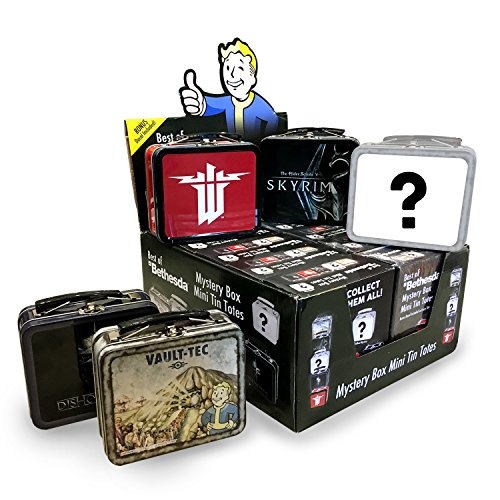 FanWraps Bethesda: Mystery Mini Series 1 (One Random Tote) Fallout Skyrim & Others Tin Luncbox, Multi from FanWraps