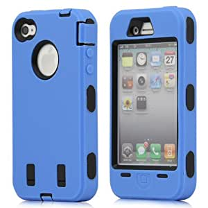 Overfeel Body Armor Defender Hard Back Case for iPhone 4 4S + with free stylus